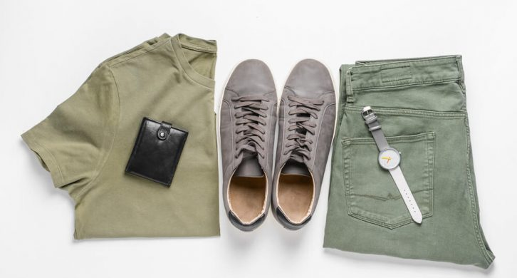 what to wear with green chinos